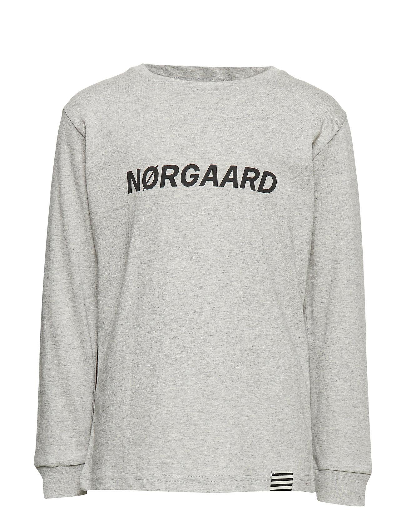 Mads Nørgaard Printed Tee Thorlino Long - GREY MELANGE