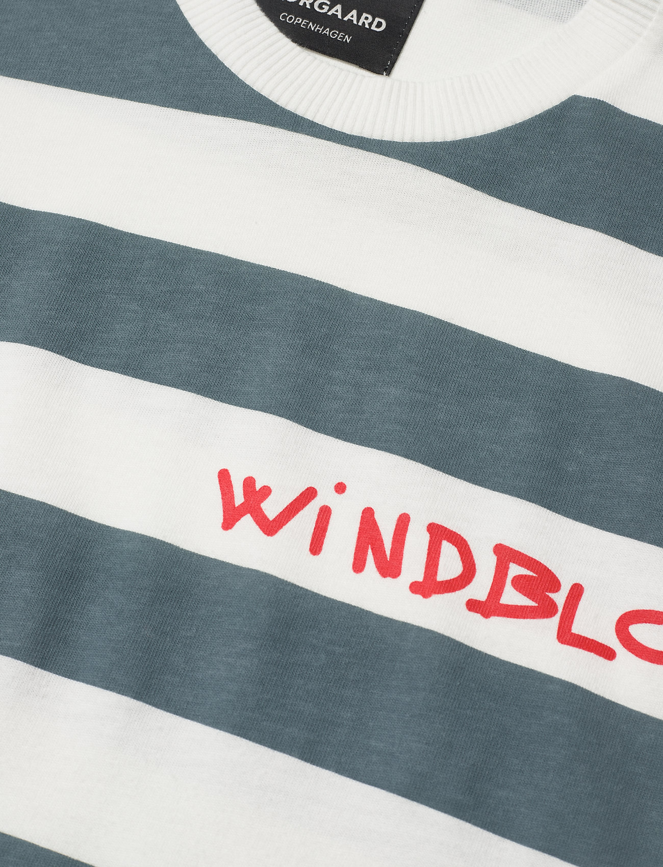 Mads Nørgaard Beach Stripe Twin - T-skjorter SARAGASSO SEA STRIPE - Menn Klær