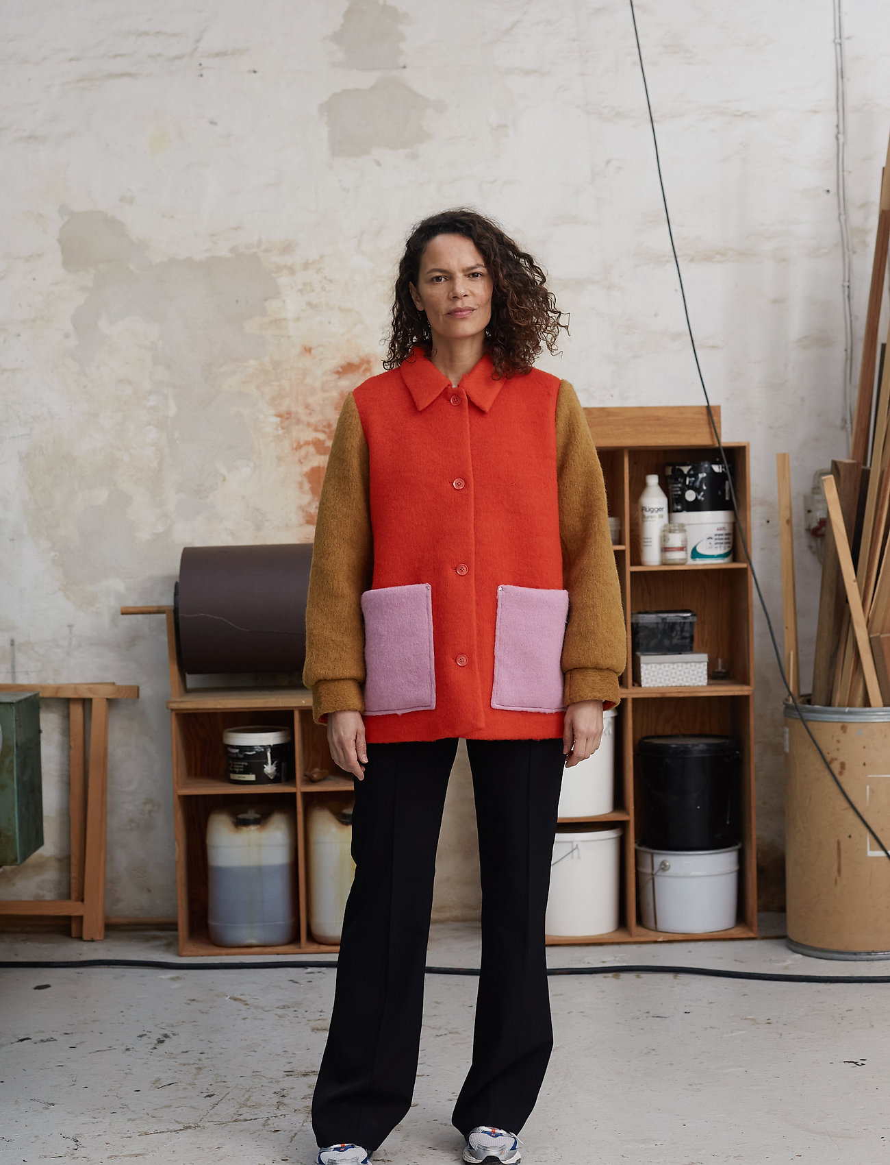 Mads Nørgaard - Knitted Wool Costanna - wool jackets - multi red - 0