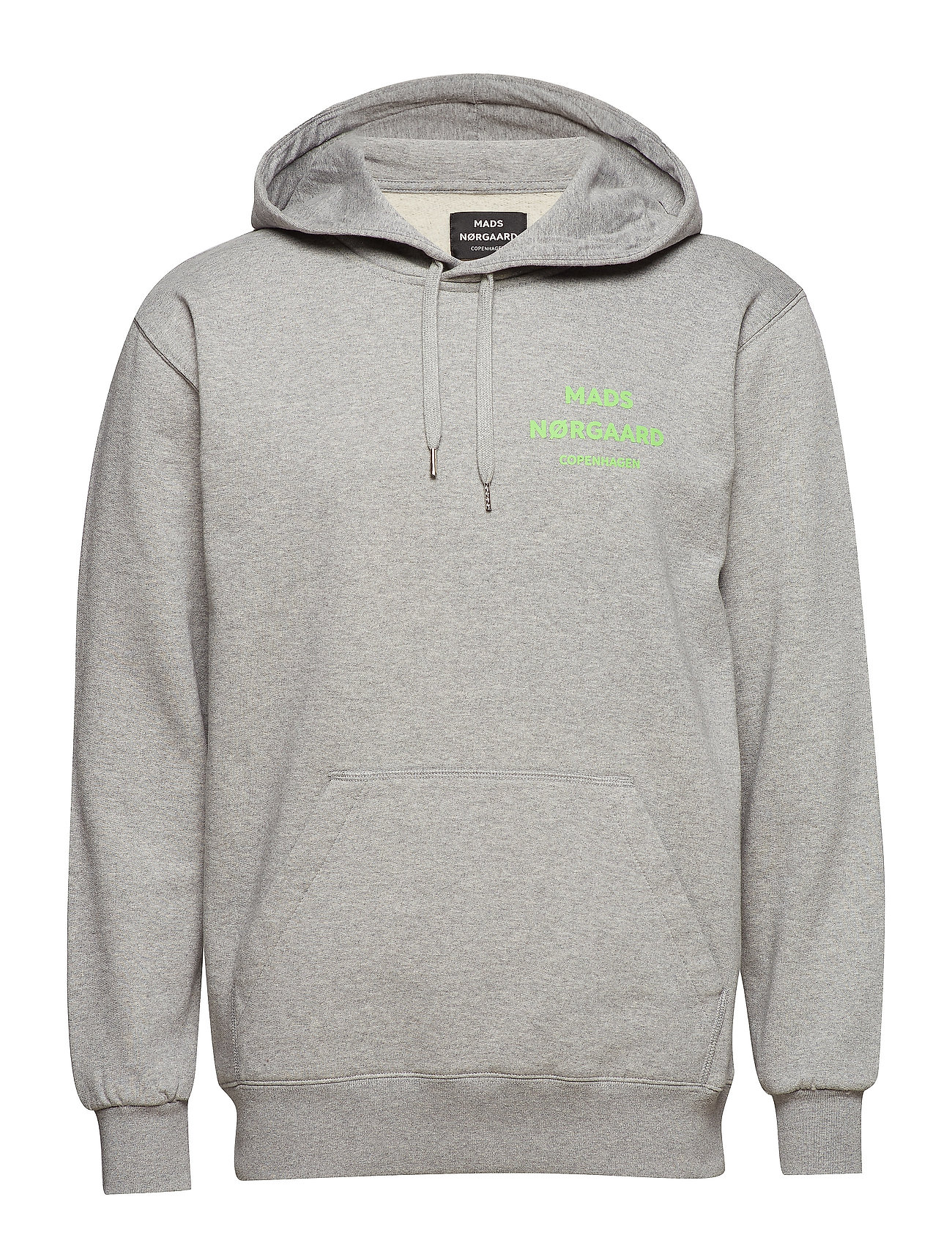 Mads Nørgaard Sustainable Cotton Hoodie - GREY MELANGE