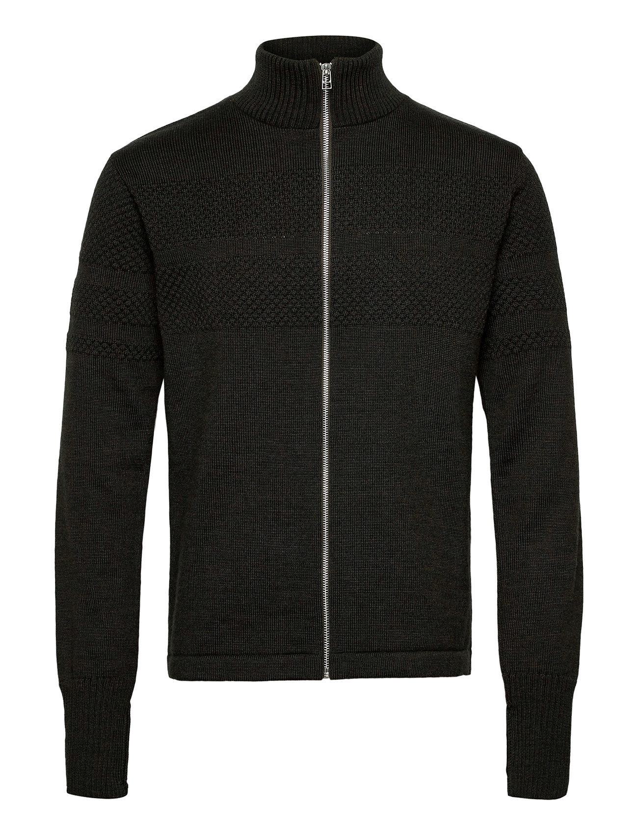 Mads Nørgaard 100% Wool Klemens Zip - FOREST NIGHT