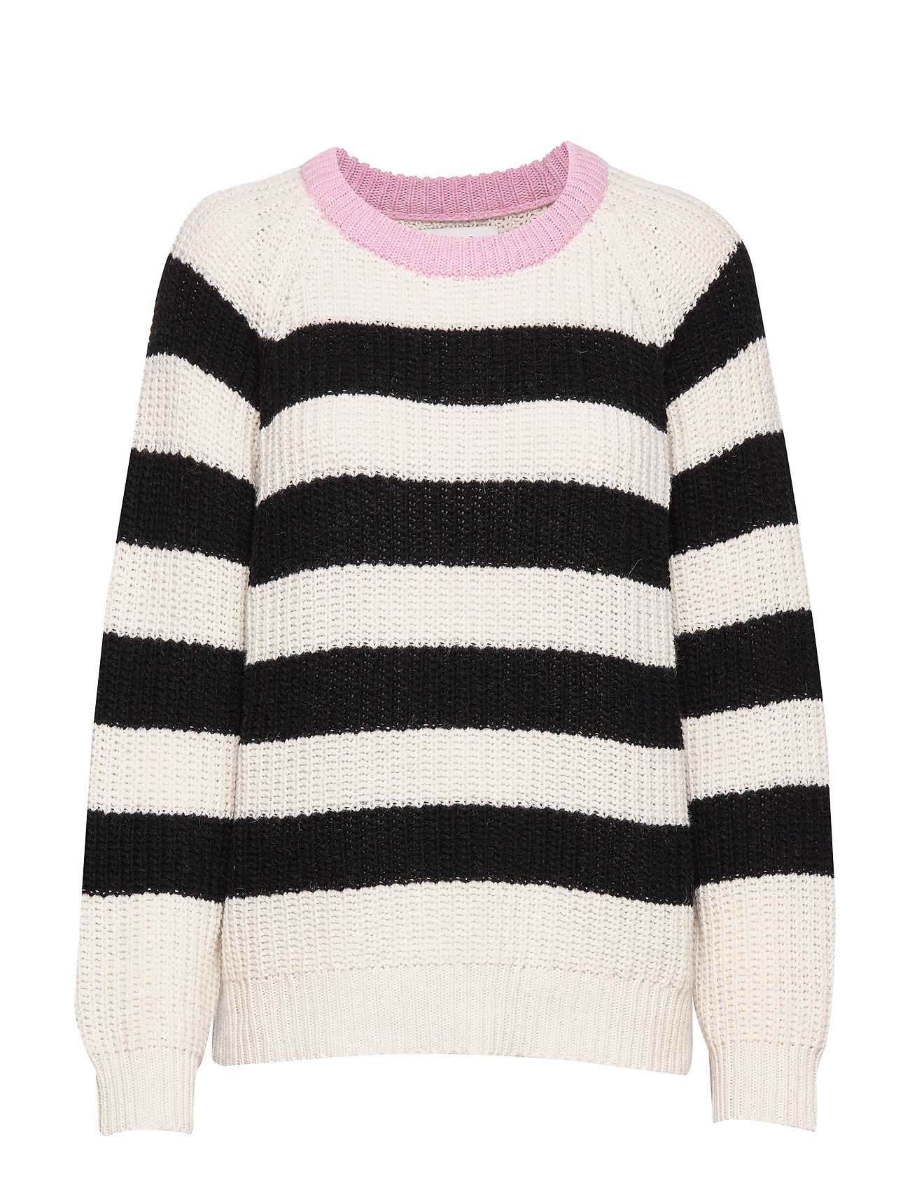 Mads Nørgaard Recycled Favorite Wool Ketty - ECRU/BLACK/ROSE