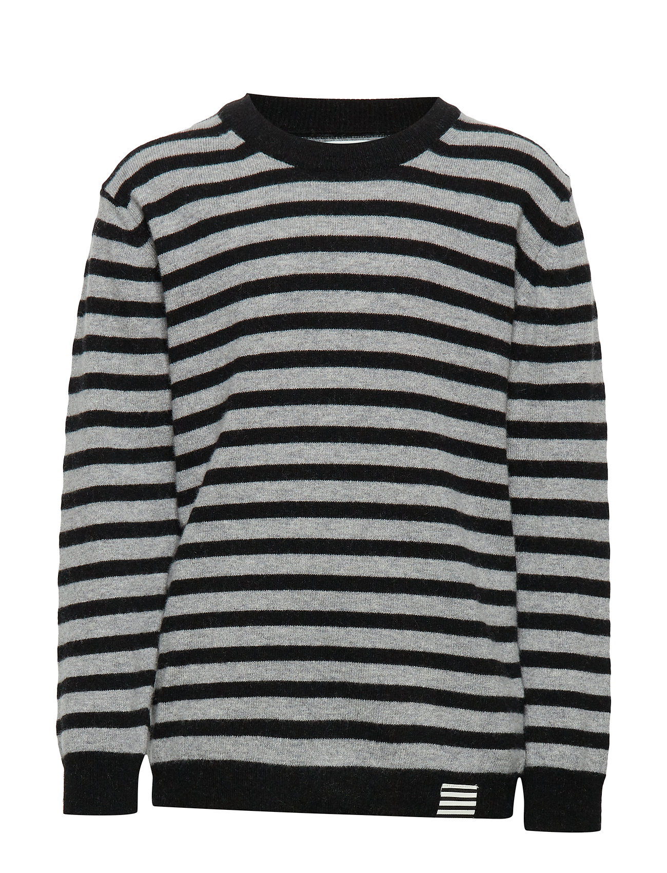 Mads Nørgaard Hampstead Stripe Karstino - BLACK/GREY MELANGE