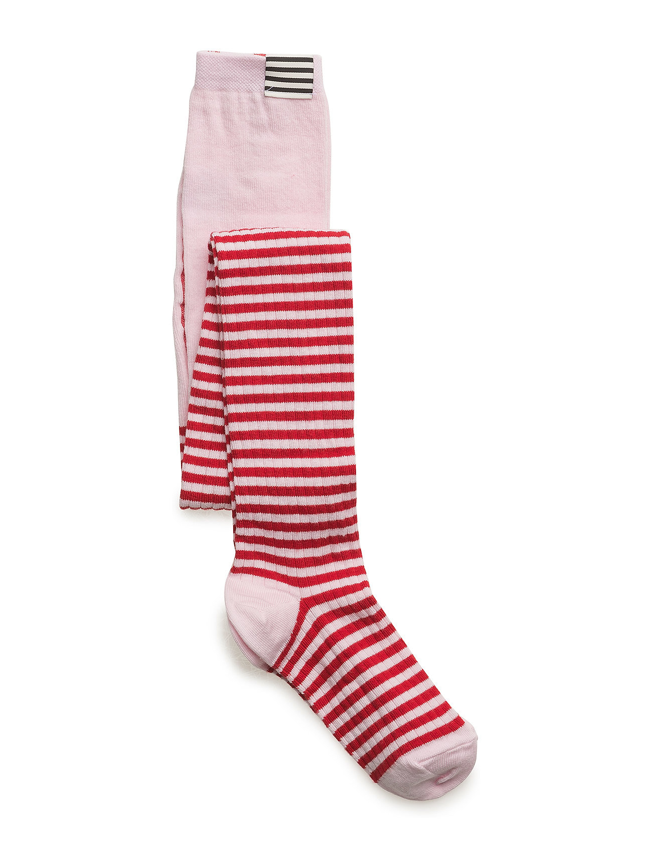 Mads Nørgaard Cotton Rib Tights - RED/ROSE
