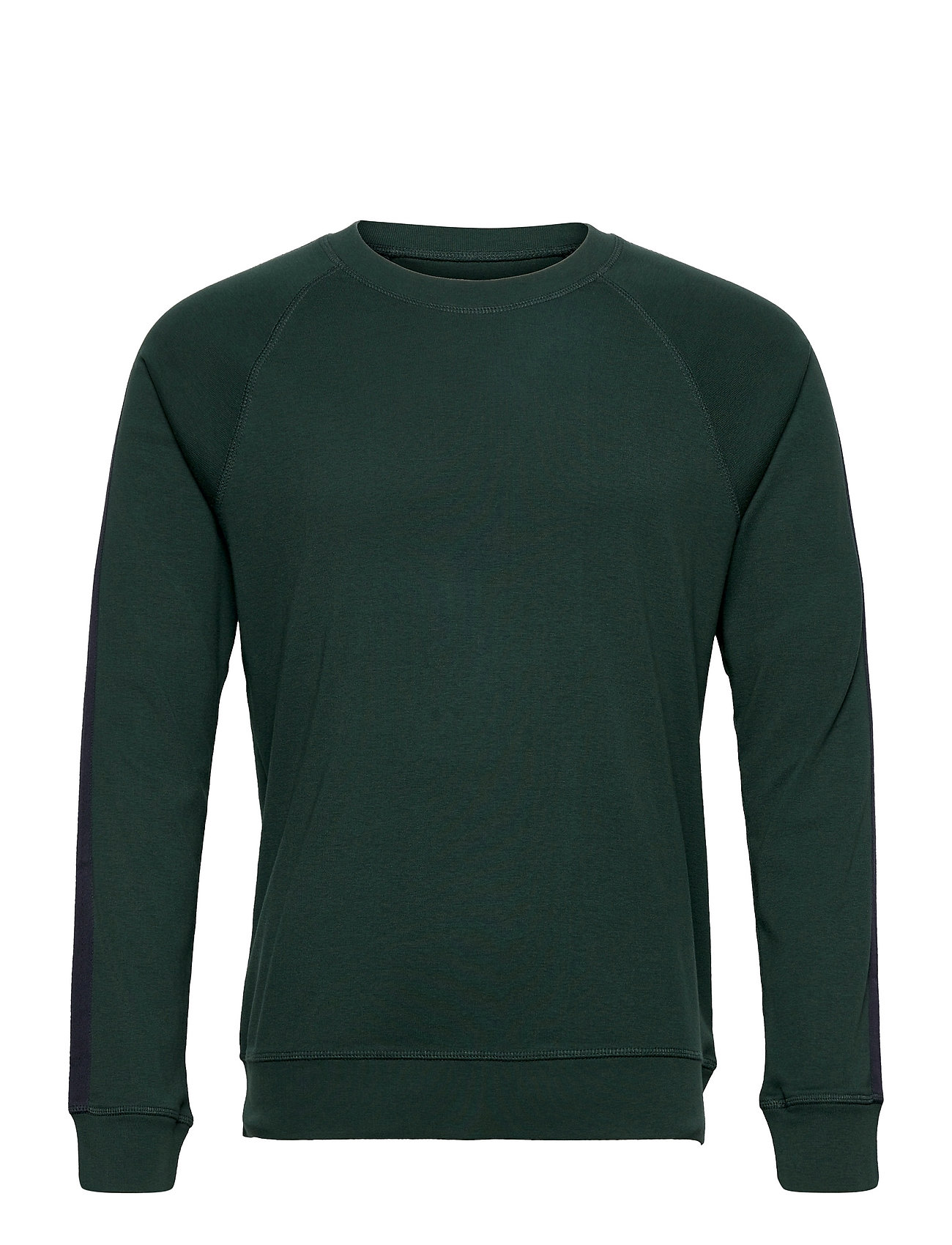 Cotton Rib Stelt Tape Sweatshirt Trøje Grøn Mads Nørgaard