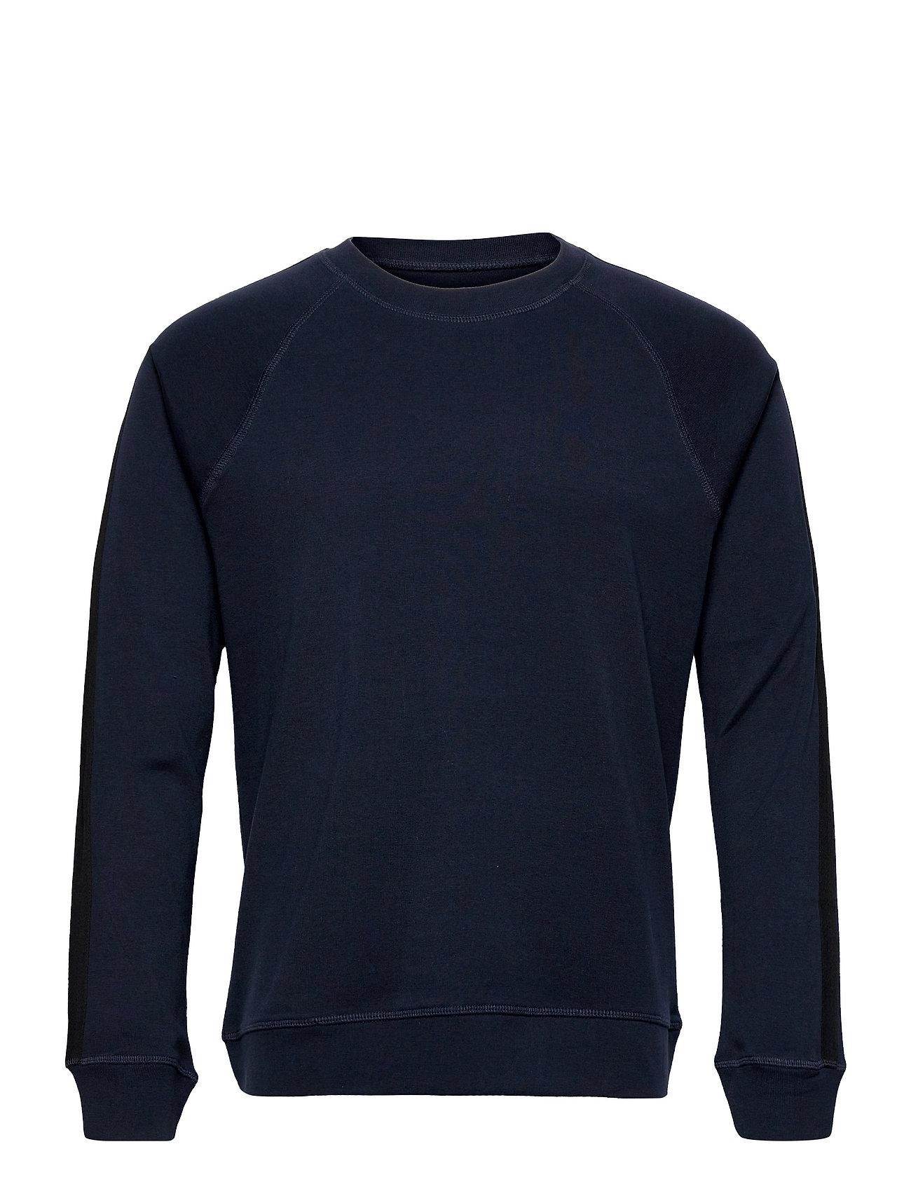 Cotton Rib Stelt Tape Sweatshirt Trøje Blå Mads Nørgaard
