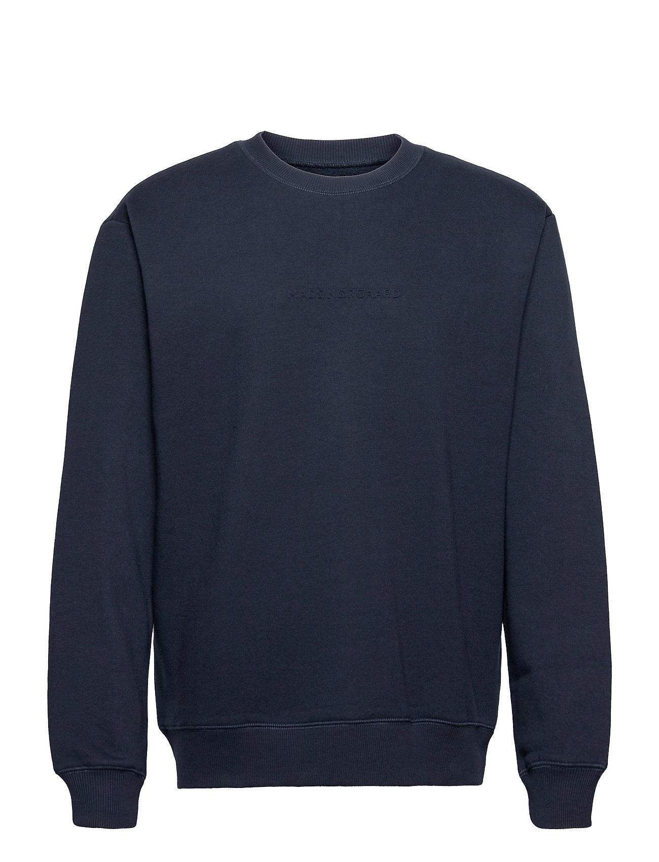 New Standard Embo Crew Sweatshirt Trøje Blå Mads Nørgaard