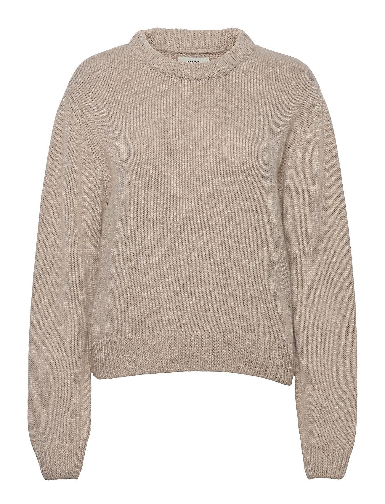 Recycled Wool Mix Kaily Strikket Trøje Beige Mads Nørgaard