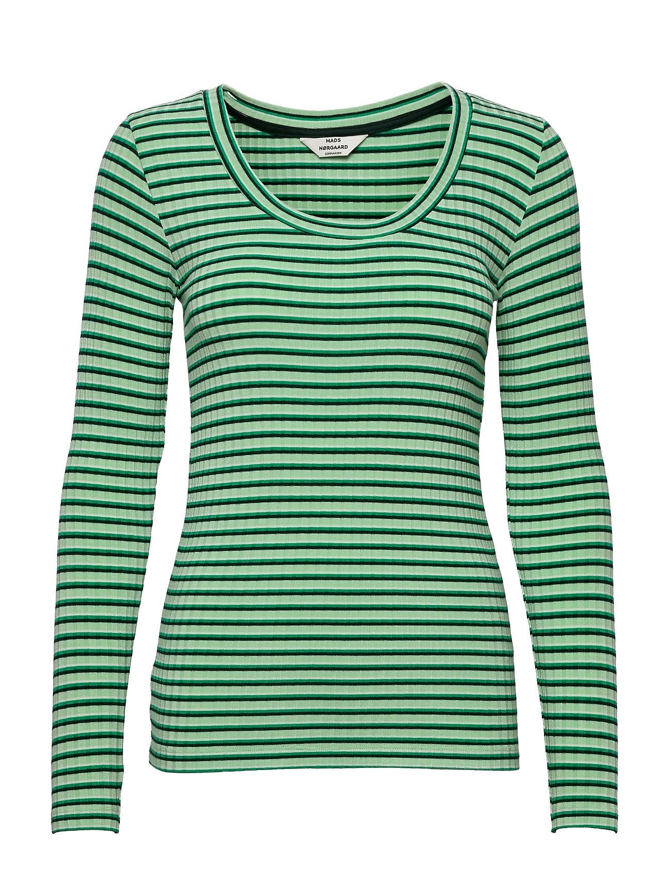 5x5 Stripe Tinilla Langærmet T-shirt Grøn Mads Nørgaard