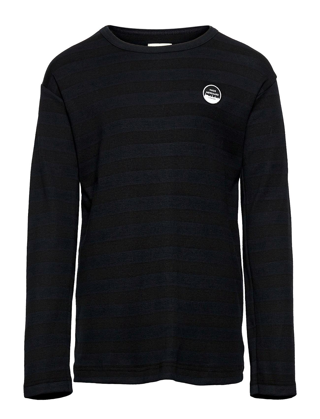 Midi Rib Tobino Long Langærmet T-shirt Sort Mads Nørgaard