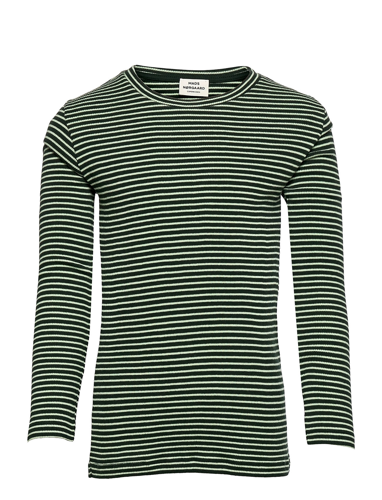 2x2 Cotton Stripe Talino Langærmet T-shirt Grøn Mads Nørgaard
