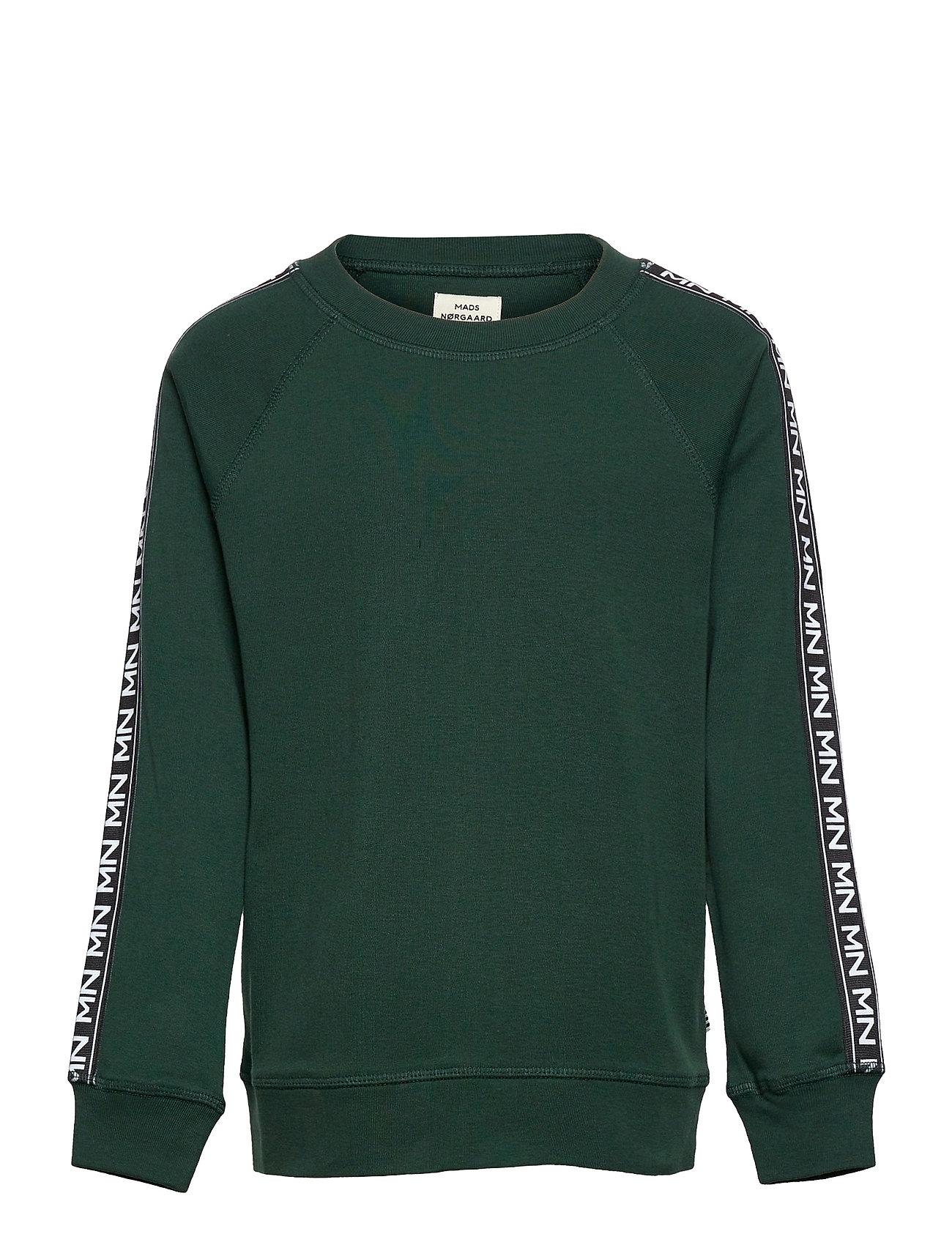 Cotton Rib Steltino Tape Sweatshirt Trøje Grøn Mads Nørgaard