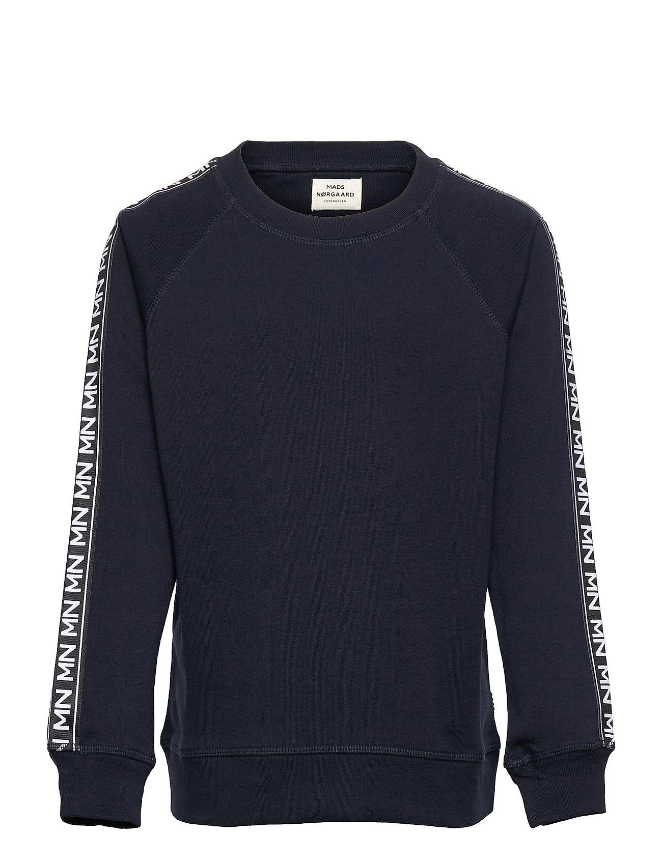 Cotton Rib Steltino Tape Sweatshirt Trøje Blå Mads Nørgaard