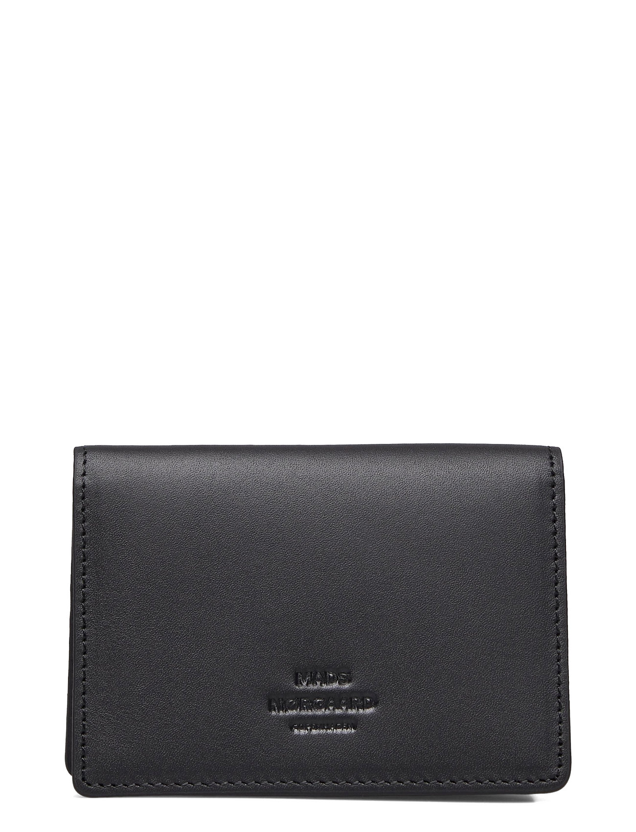 Leather Card Wallet Accessories Wallets Classic Wallets Sort Mads Nørgaard
