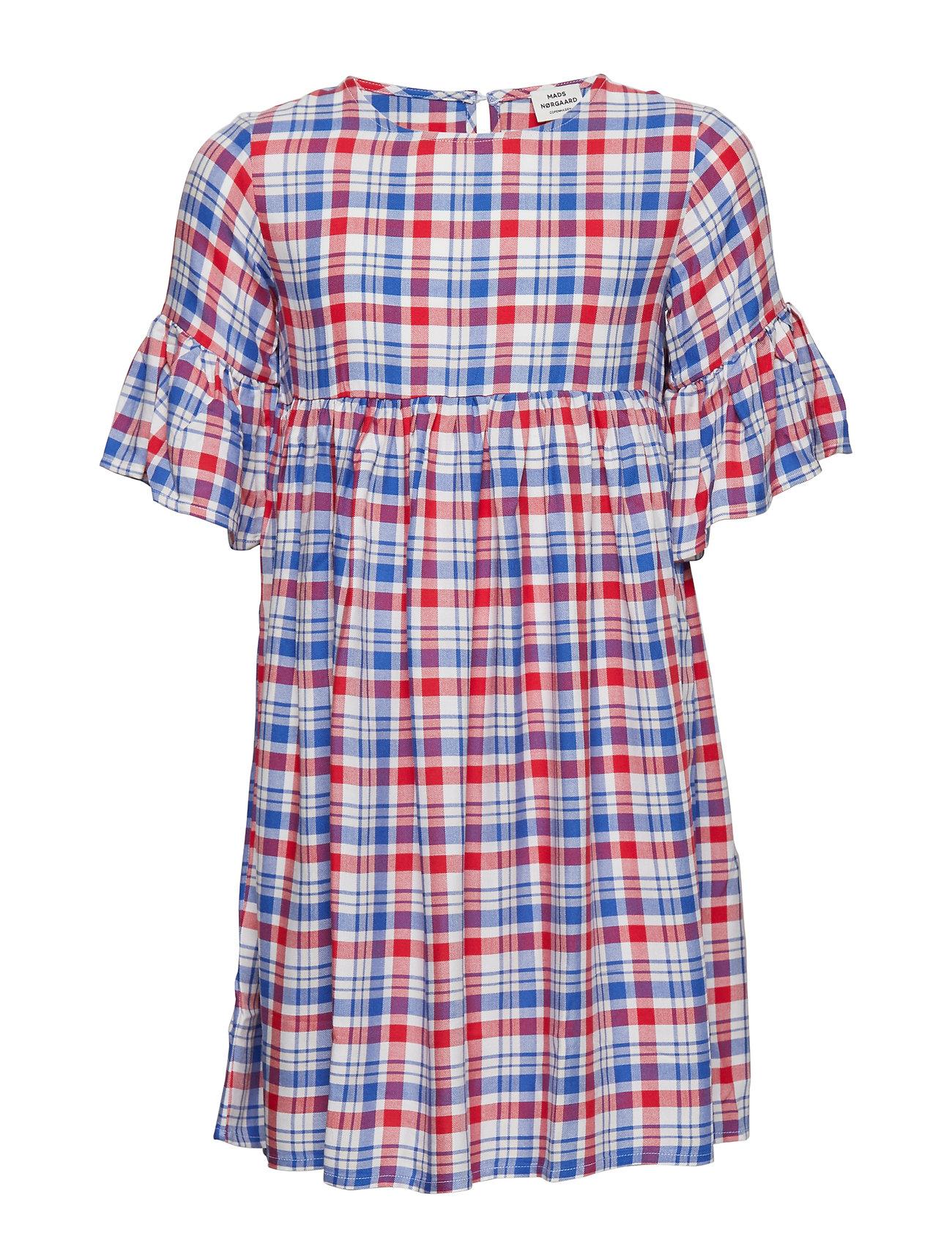 67611c4a Viscose Check Drefina kjoler fra Mads Nørgaard til børn i RED/BLUE ...