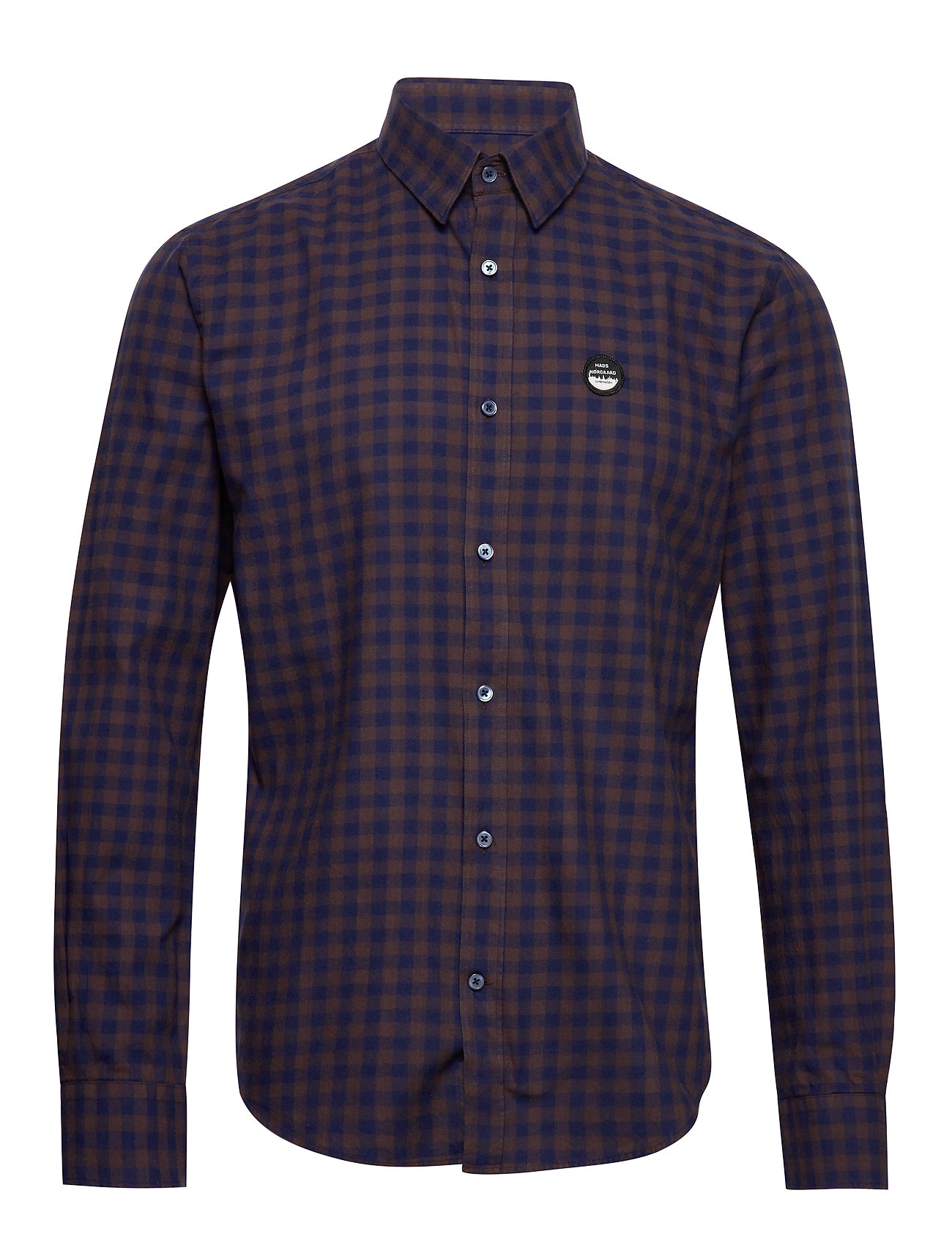 Mads Nørgaard Brushed Twill Sumo - NAVY/BROWN CHECK