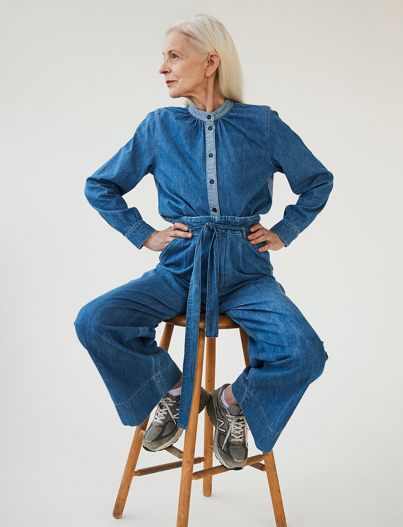 Mads Nørgaard - Light Indigo Sylle - jeansblouses - mid blue - 0