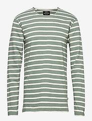 Mads Nørgaard - Picasso Tash Long - long-sleeved t-shirts - sea spray/white alyssum - 0
