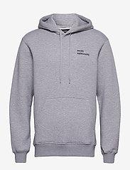 Mads Nørgaard - New Standard Hoodie Logo - basic sweatshirts - grey melange - 1