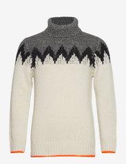 Mads Nørgaard - Recycled Iceland Kelden - truien met col haag - black/ecru - 0