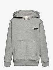 Mads Nørgaard - New Standard Hudini Zip - hoodies - grey melange - 0
