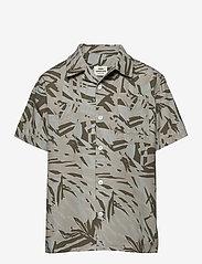 Mads Nørgaard - Jungle Print Samsino - shirts - olive night - 0
