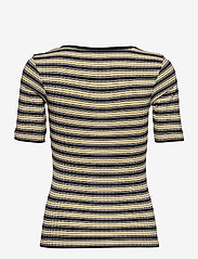 Mads Nørgaard - 5x5 Stripe Taura - t-shirts - black/pale banana/white - 1