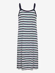 Mads Nørgaard - 5x5 Stripe Ducina - kleider - aqua/pink/navy - 0