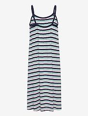 Mads Nørgaard - 5x5 Stripe Ducina - kleider - aqua/pink/navy - 1