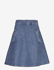 Mads Nørgaard - Heavy Indigo Stelly - jeansowe spódnice - worn stone - 0