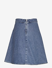 Mads Nørgaard - Heavy Indigo Stelly - jeansowe spódnice - worn stone - 1