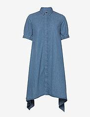 Mads Nørgaard - Soft Indigo Dancella - skjortekjoler - pale indigo - 0