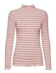 5x5 Cool Stripe Trutte s - DARK ECRU/WARM RED