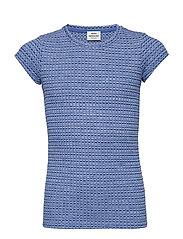 5x5 Melange Rib Tuvina - BLUE MELANGE