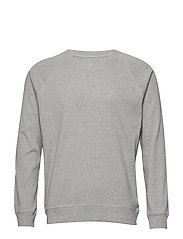 Cotton Rib Melange Stelt - GREY MELANGE