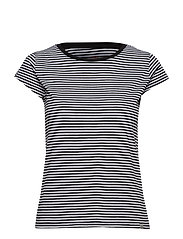 Organic Favorite Stripe Teasy - BLACK/WHITE