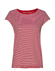 Organic Favorite Stripe Teasy - RED/WHITE
