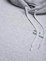 Mads Nørgaard - New Standard Hoodie Logo - basic sweatshirts - grey melange - 3