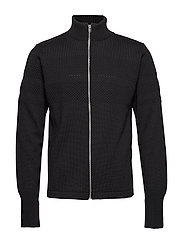 100% Wool Klemens Zip - BLACK