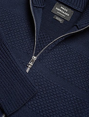 Mads Nørgaard - 100% Wool Klemens Zip - basic strik - navy - 2