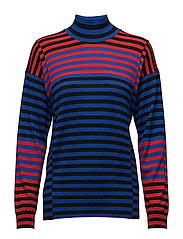 Merino boutique Karilla mix - BLACK/BLUE/RED
