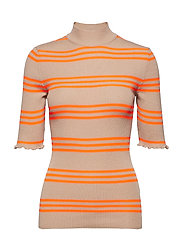 Merino group Karinella neon - BEIGE/NEON ORANGE