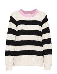 Recycled Favorite Wool Ketty - ECRU/BLACK/ROSE