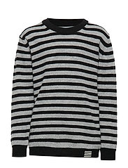 Hampstead Stripe Karstino - BLACK/GREY MELANGE