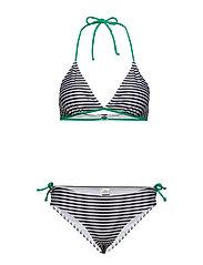 Ibiza Bikinna B - BLACK/WHITE/GREEN