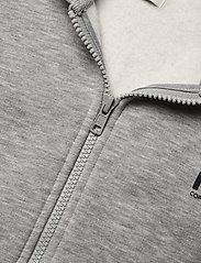 Mads Nørgaard - New Standard Hudini Zip - hoodies - grey melange - 2