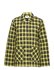 Seersucker Check Jally - BLACK/YELLOW