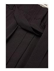 Mads Nørgaard - Crepe georgette Pleasy - bukser med brede ben - black - 3