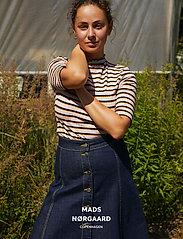 Mads Nørgaard - Comfi Denim Stelissa Box - jeansowe spódnice - blue rinse - 0