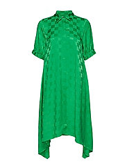 Check Viscose Dancella - GREEN/GREEN